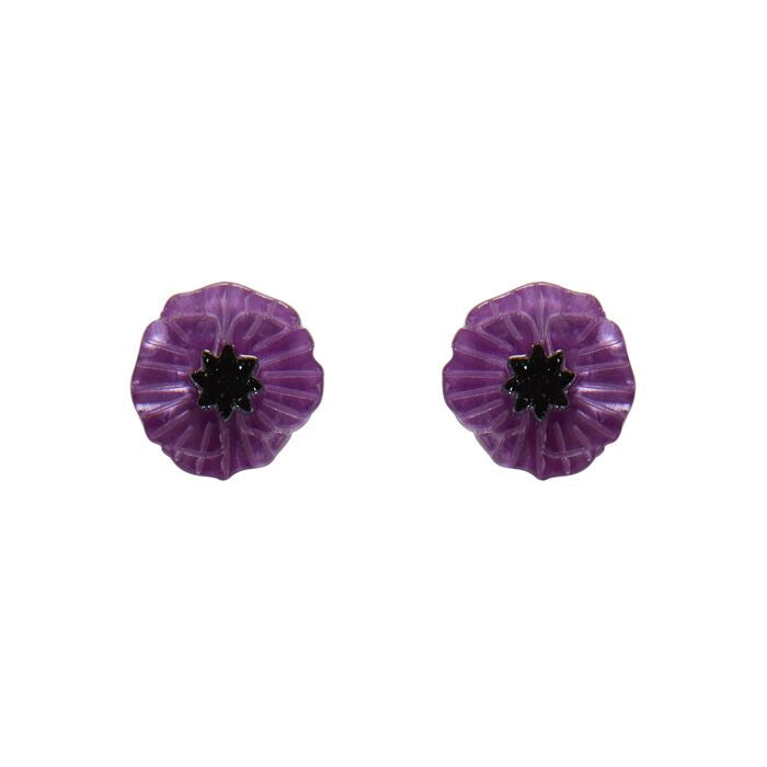 Erstwilder Earrings - Poppy Field Purple