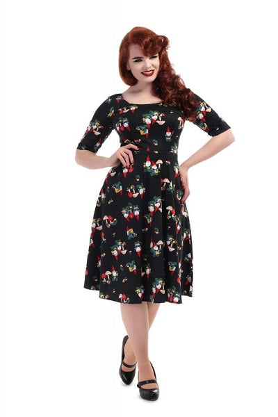 Collectif Amber Gnome Swing Dress