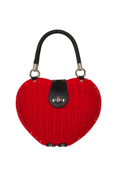 Voodoo Vixen Monroe Red Heart Handbag