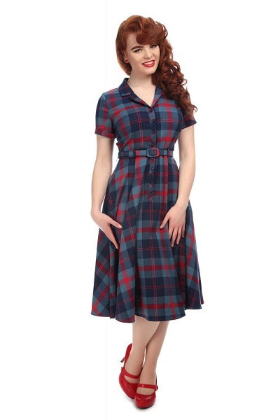 Collectif Caterina Merida Check Swing Dress