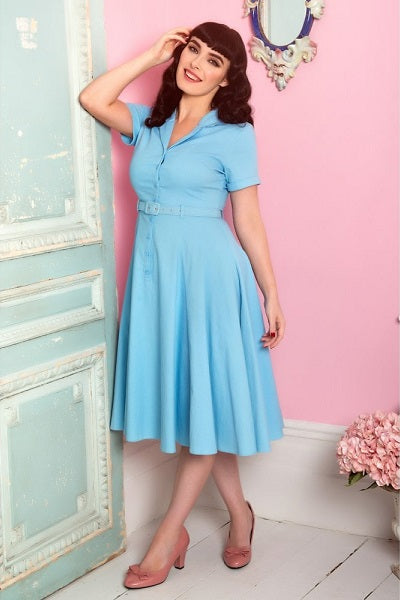 Collectif Caterina Blue Swing Dress