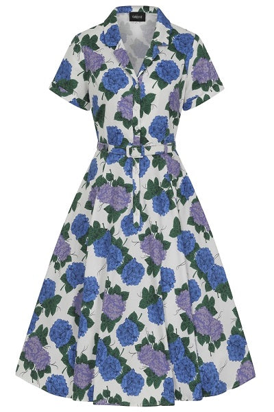 Collectif Caterina Vintage Hortensia Swing Dress