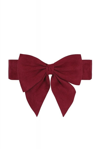 Collectif Deanna Bow Belt Red