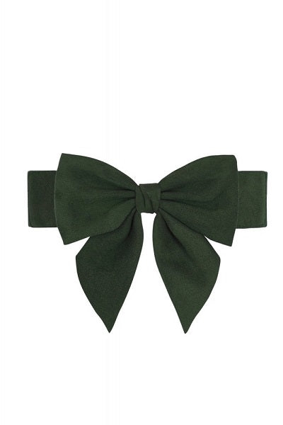 Collectif Deanna Bow Belt Green