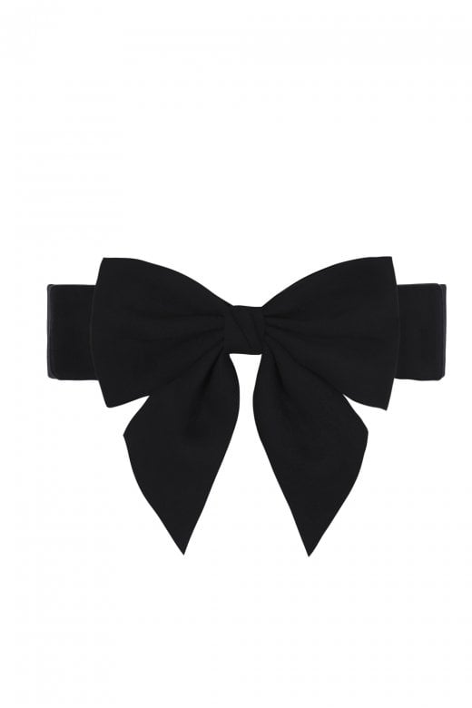 Collectif Deanna Bow Belt Black