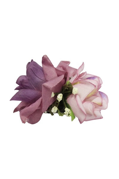 Collectif Double Lilac Hair Rose Clip