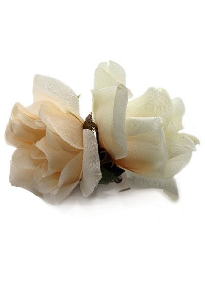 Collectif Double Ivory Hair Rose Clip