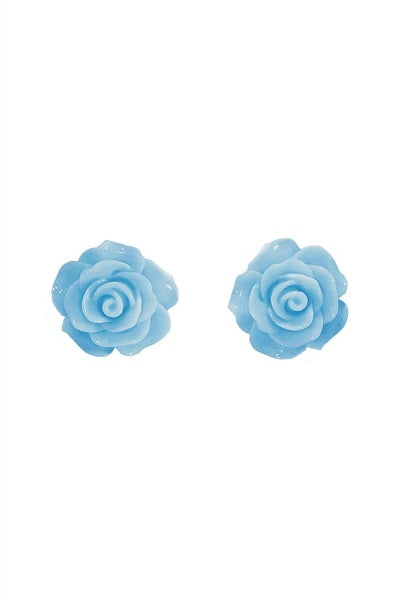 Collectif Stud Earrings Rose Blue
