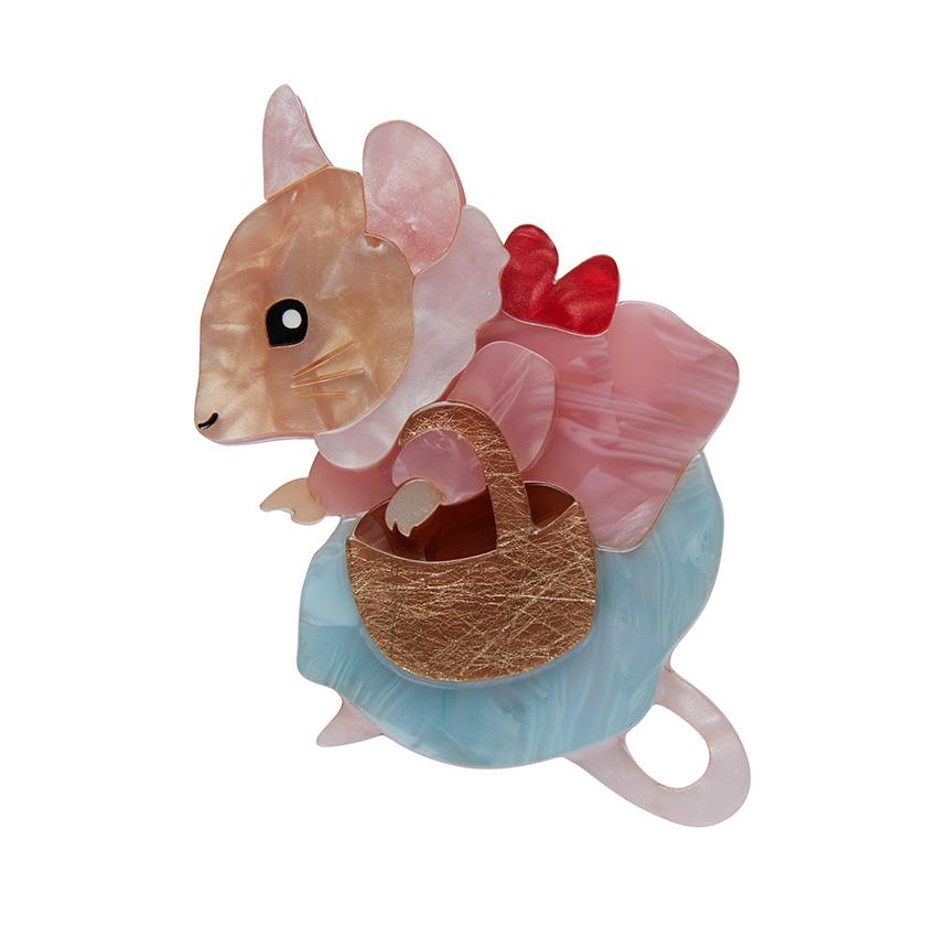 Erstwilder  x Peter Rabbit Brooch -  Mrs Tittlemouse