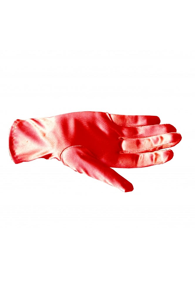 Collectif Bracelet Length Glove Red