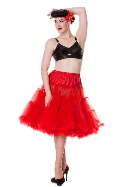 Hell Bunny Petticoat Red