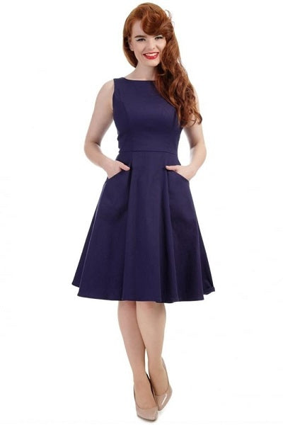 Collectif Hepburn Navy Doll Dress