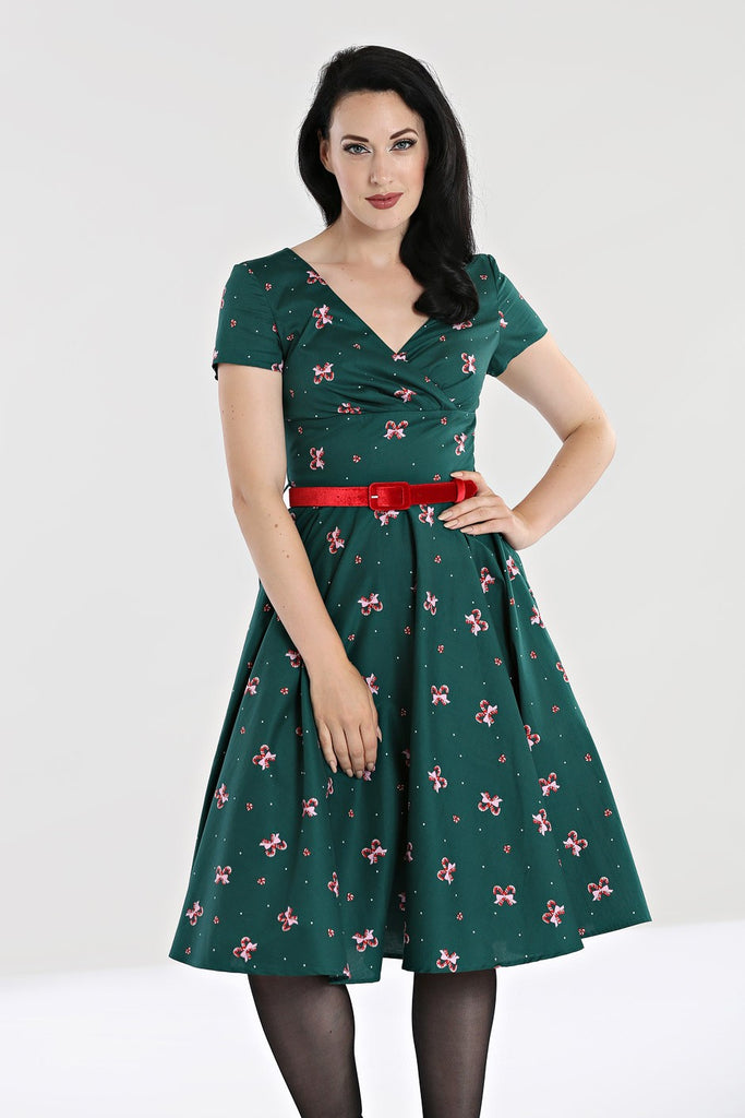 Hell Bunny Beth Candy Cane Dress