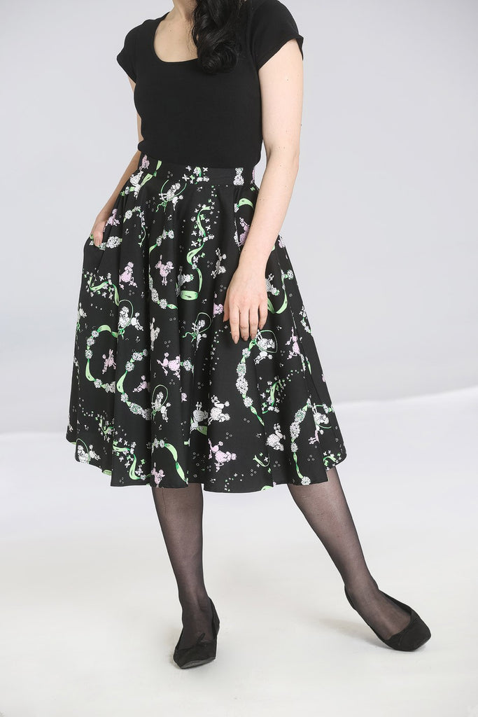 Hell Bunny Lexie Poodle 50s Skirt
