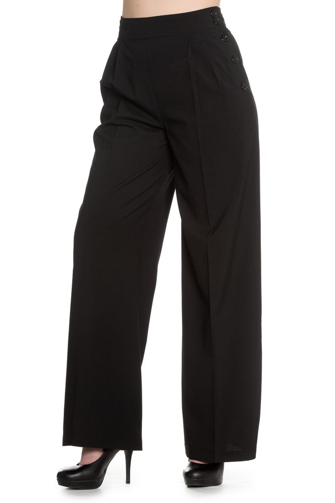Hell Bunny Hubertine Trousers Black
