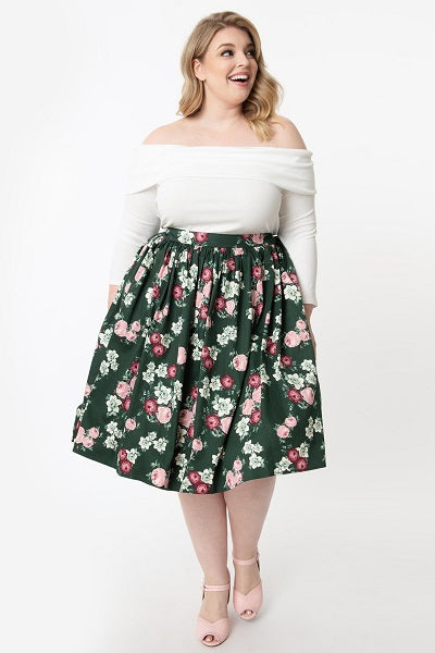 Collectif Jasmine Vintage Bloom Skirt