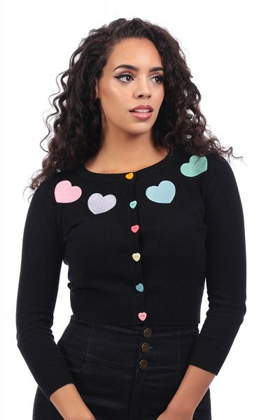 Collectif Jessie Rainbow Love Cardigan