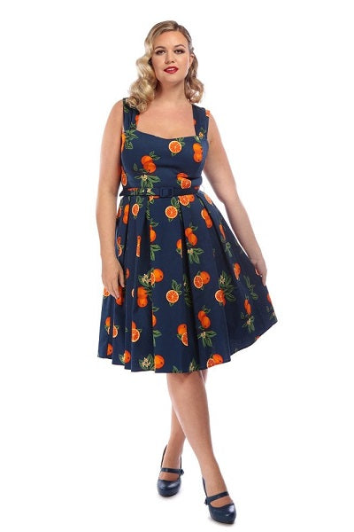 Collectif Jill Oranges Dress