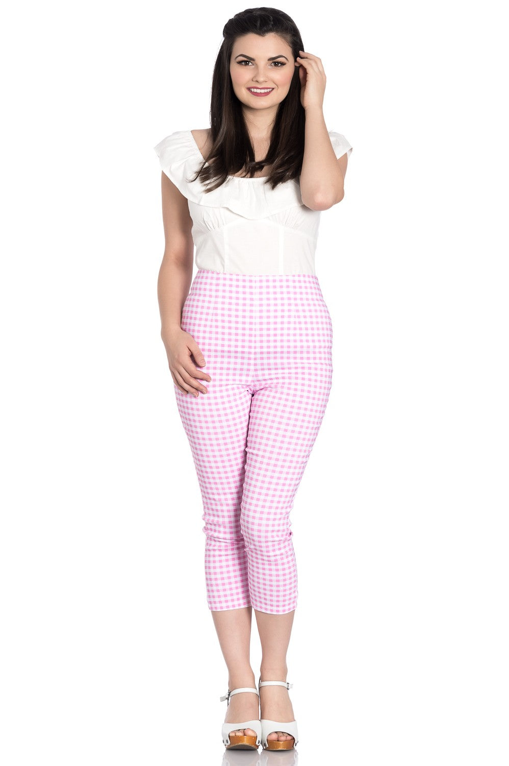 Hell Bunny Judy Capris Pink (4XL ONLY)