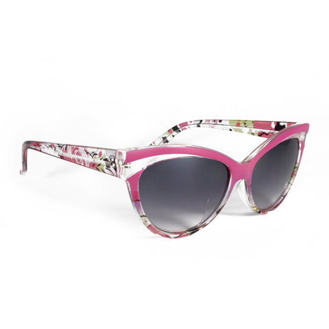 Collectif Pink Floral Sunglasses