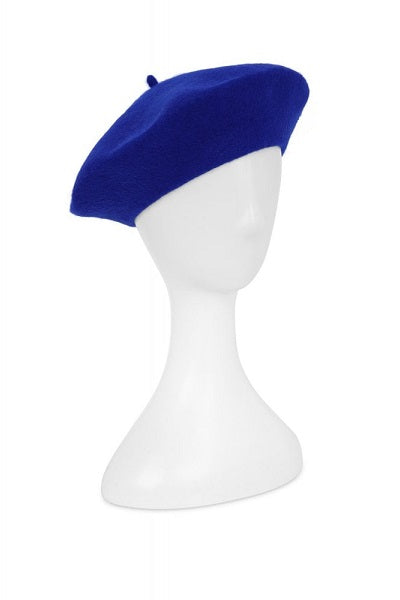 Collectif Lauren Beret Royal Blue