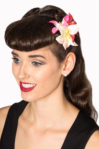Banned Apparel Floral Hairclip