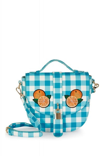 Collectif Handbag Lydia Gingham Orange