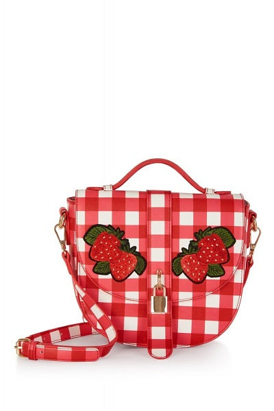 Collectif Handbag Lydia Gingham Strawberry