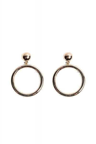 Collectif Mansfield Hoop Earrings Gold