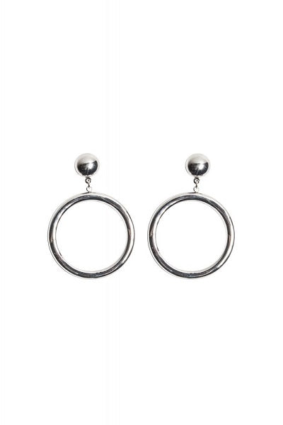 Collectif Mansfield Hoop Earrings Silver
