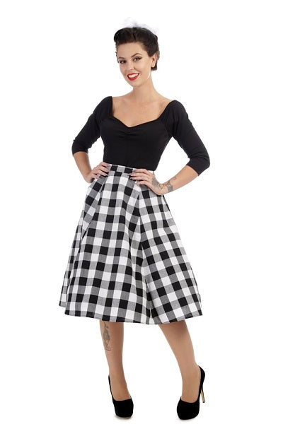 Collectif Matilde Gingham Skirt