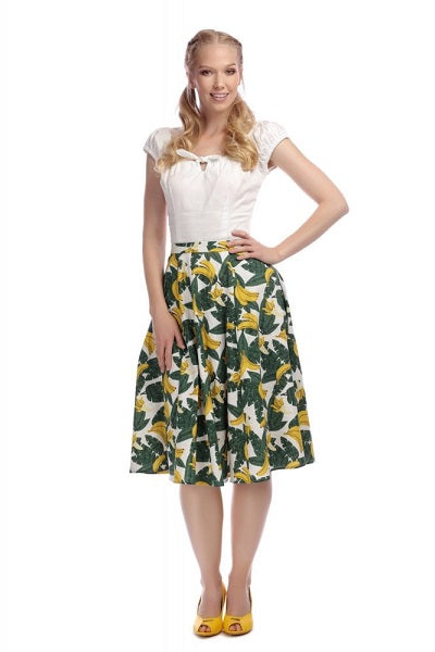 Collectif Matilde Tropical Banana Skirt