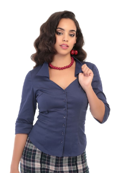 Collectif Mona Shirt Navy