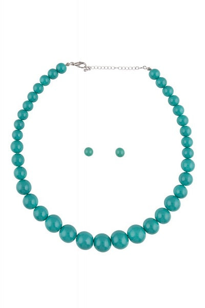 Collectif Bead Necklace Set Turquoise
