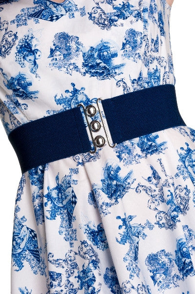 Hell Bunny Retro Navy Belt