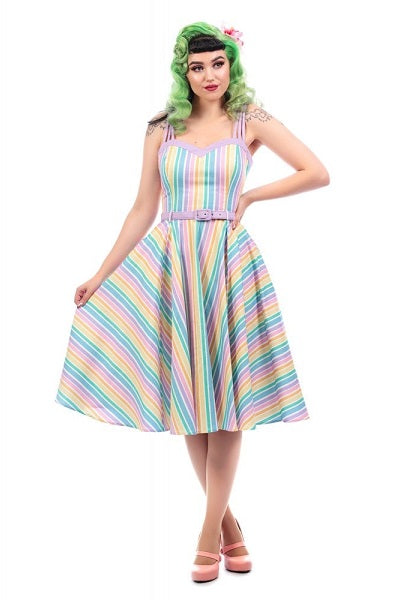 Collectif Nova Rainbow Swing Dress