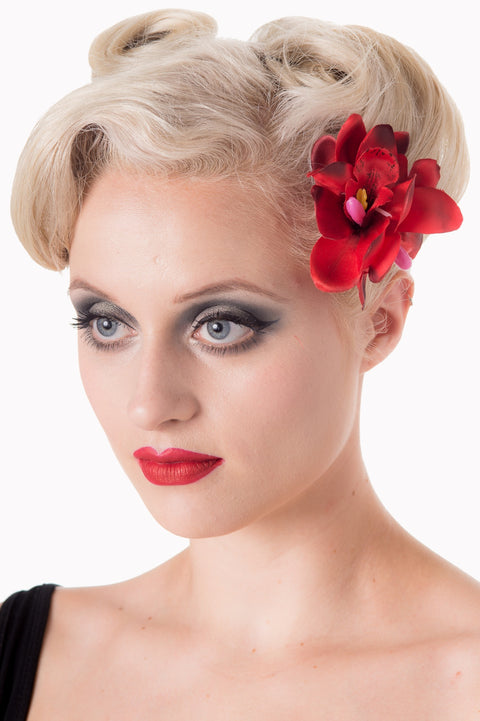 Banned Apparel Blossom Hairclip Red