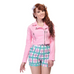 Collectif Outlaw Pink Biker Jacket