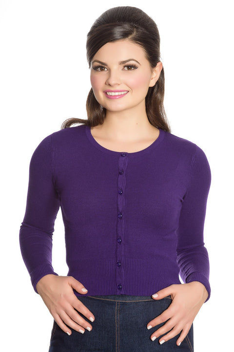 Hell Bunny Paloma Purple Cardigan