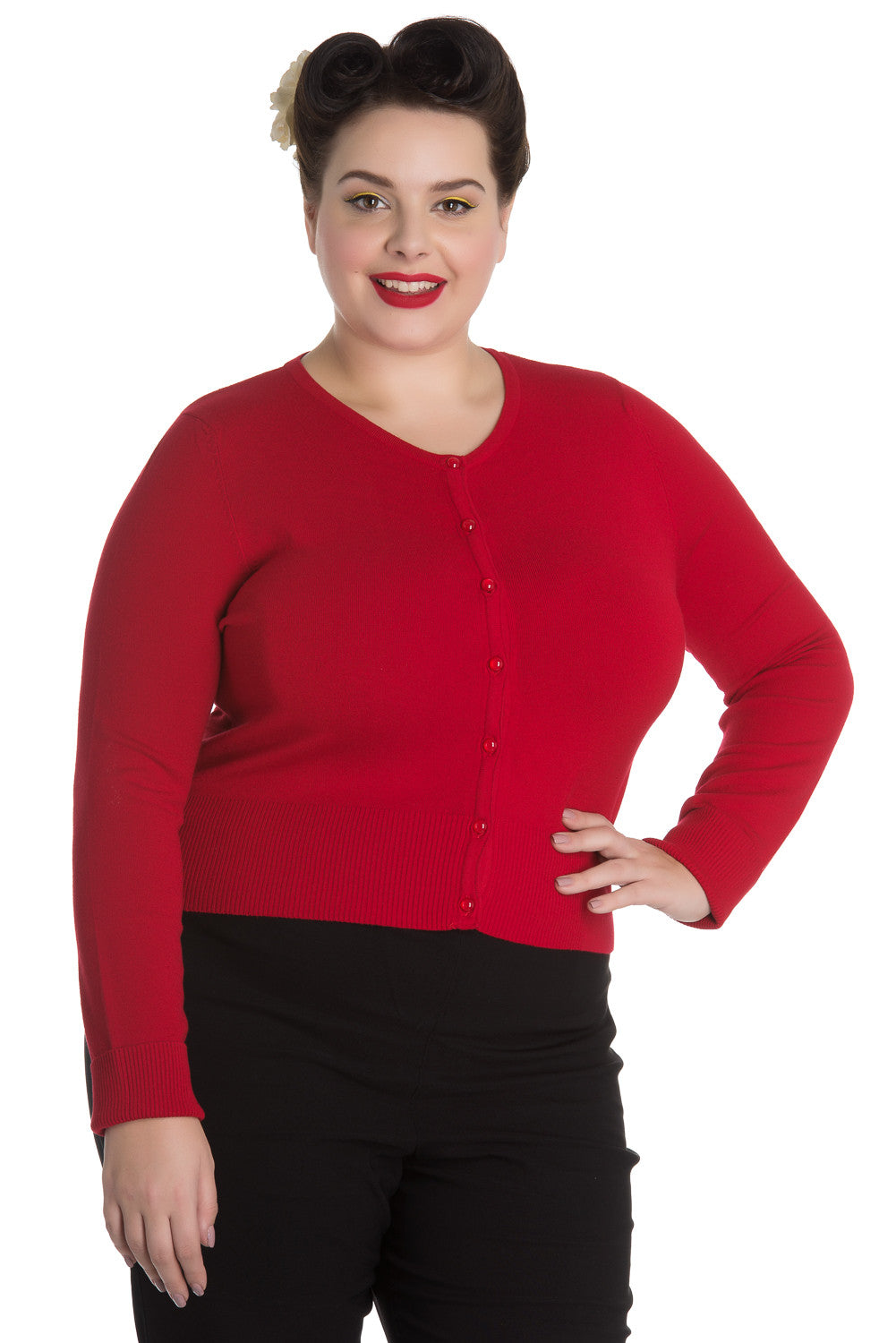Hell Bunny Paloma Red Cardigan