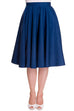 Hell Bunny Paula Navy Skirt