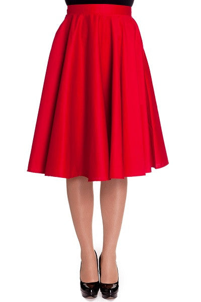 Hell Bunny Paula Red Skirt