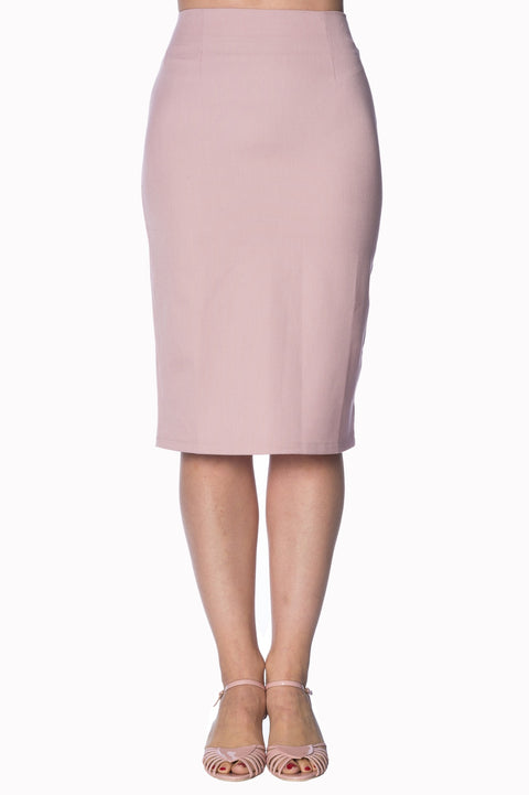 Dancing Days by Banned Paula Pencil Skirt Rose (S ONLY)