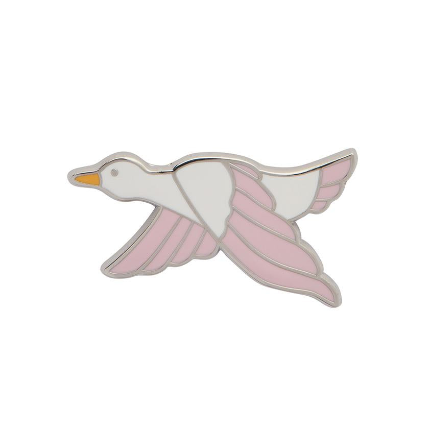 Erstwilder Pin - Dancing Duck Pink