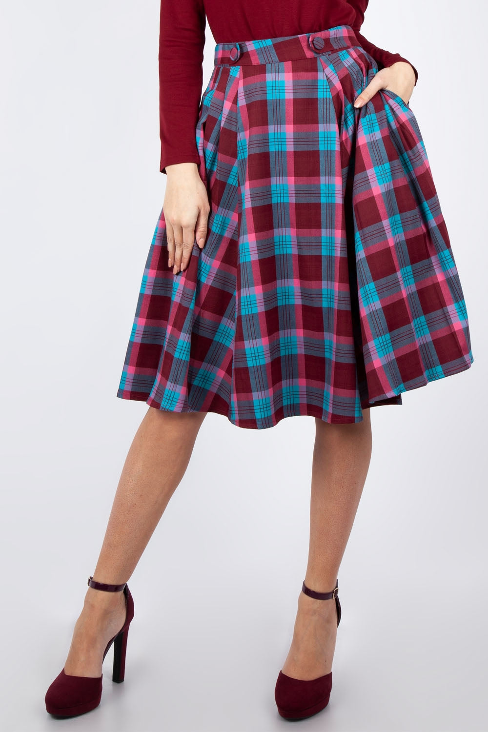Voodoo Vixen Piper Plaid Skirt