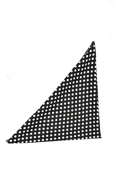 Collectif Bandana Polka Dot Black/White