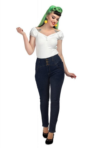 Collectif Rebel Kate Navy Denim Jeans