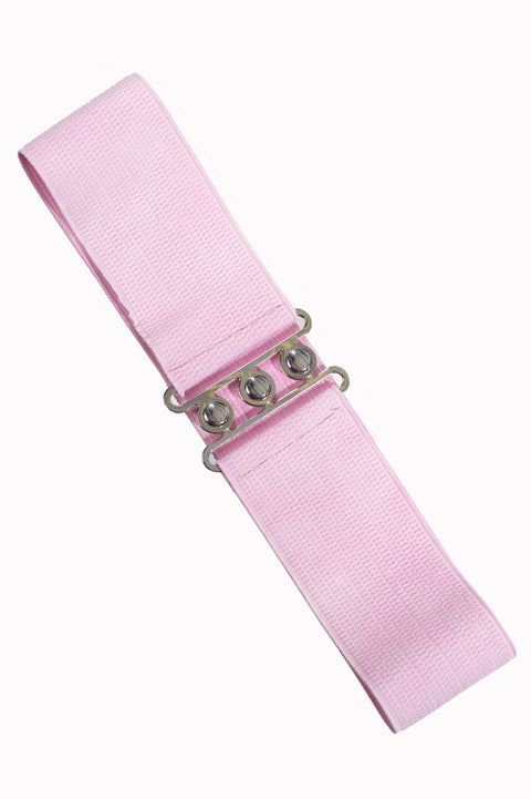 Dancing Days by Banned Retro Belt Light Pink