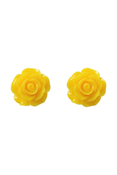 Collectif Stud Earrings Rose Yellow