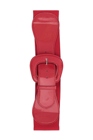 Steady Wide Elastic Belt in Red
